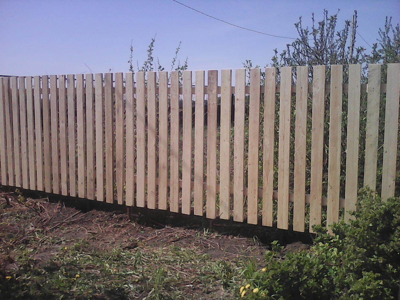 Забор из штакетника деревянного фото своими руками 27